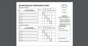 Quad chess tournament results sheet