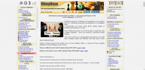 The Olimpbase.org homepage